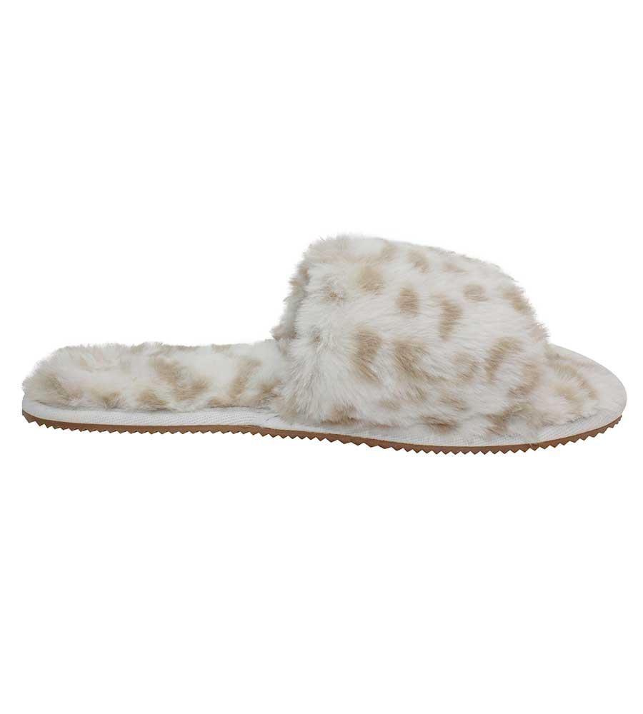 SNOW LEOPARD SLUMBER SLIPPER BY MALVADOS SANDALS