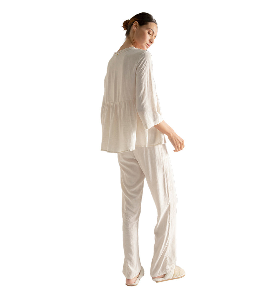 SOFT SAND LONG PANT PAJAMA SET BY TOUCHE
