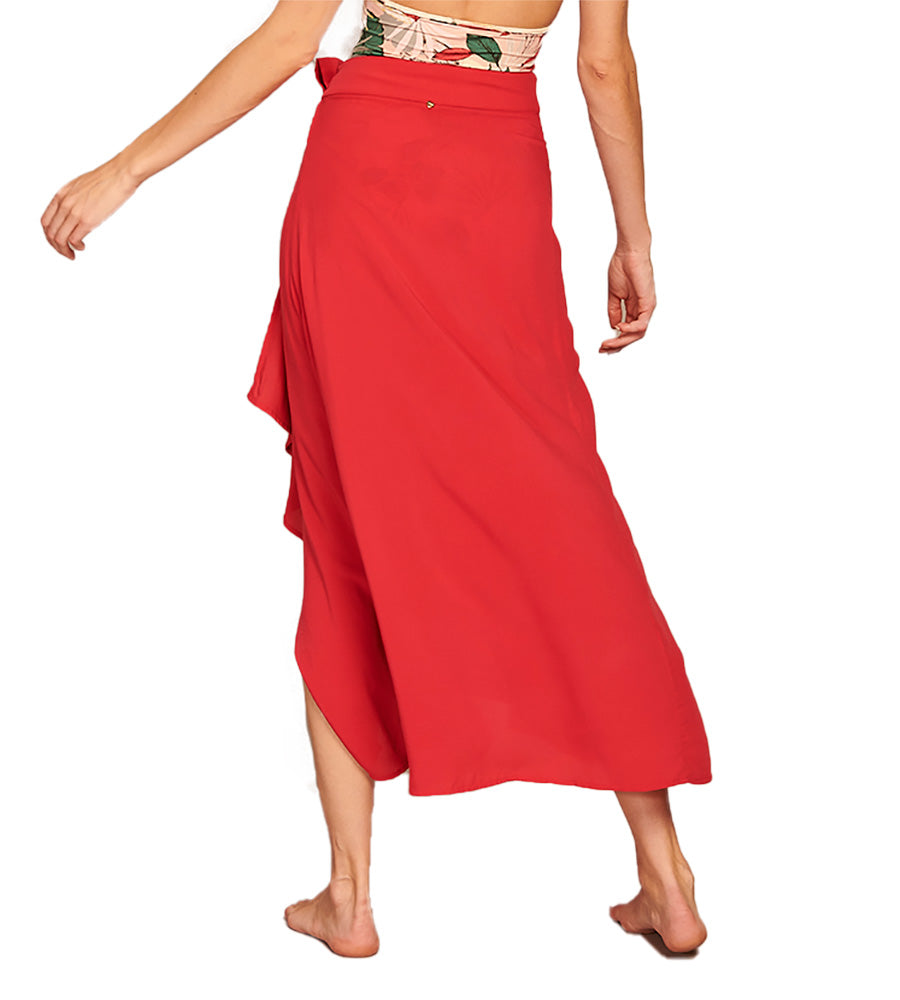 SOUR CHERRY PAREO SKIRT BY TOUCHE