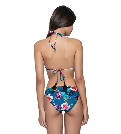 SPIRITUAL BLOOM EMBROIDERED TIE BOTTOM PQ SWIM SPI-213F