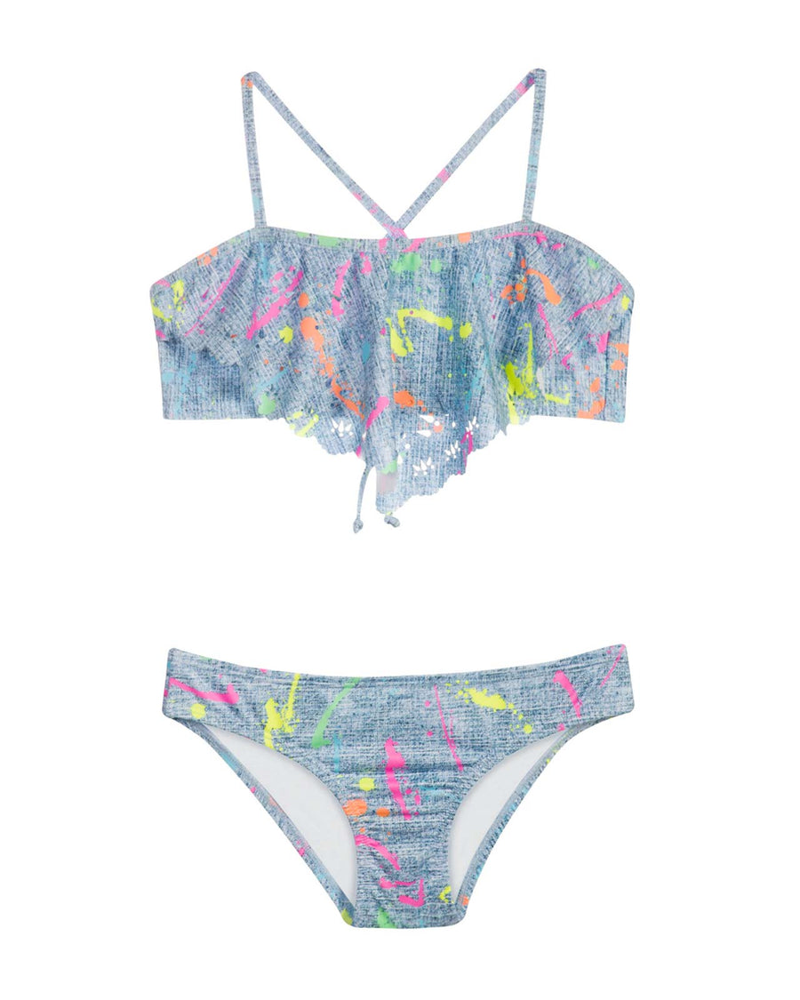 SPLATTER PAINT LASER CUT OUT BIKINI PILYQ SPL-829B