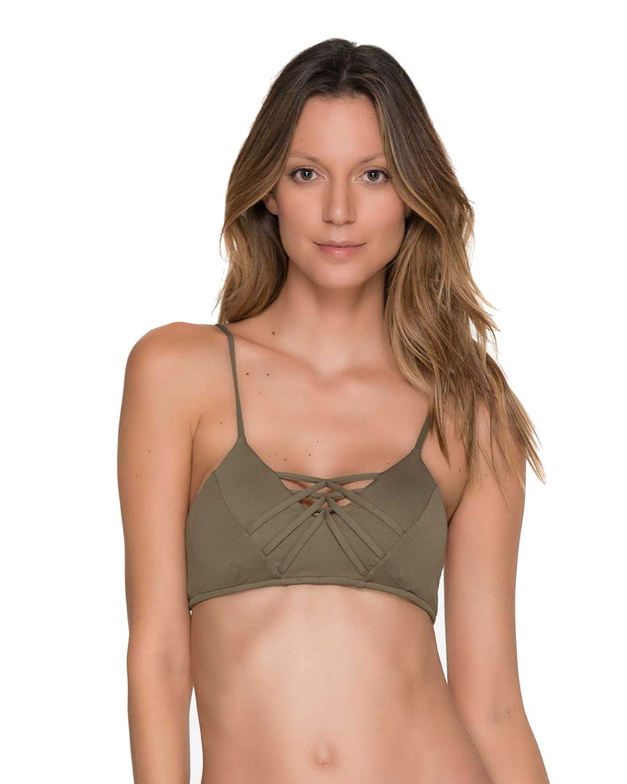 CHIEF FISHBONE ARMY BRALETTE TOP BY MALAI