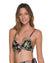 BLACK FLOWERY BRALETTE TOP BY MALAI