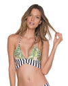 MONSTERA DELIGHT TRIANGLE TOP MALAI T00355