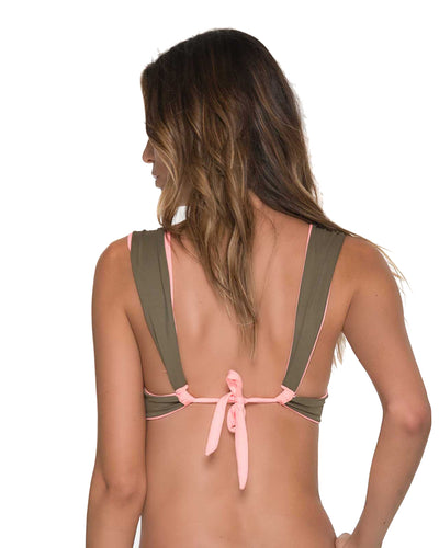 DOUBLE GLEE ARMY ICON BRALETTE TOP MALAI T00365