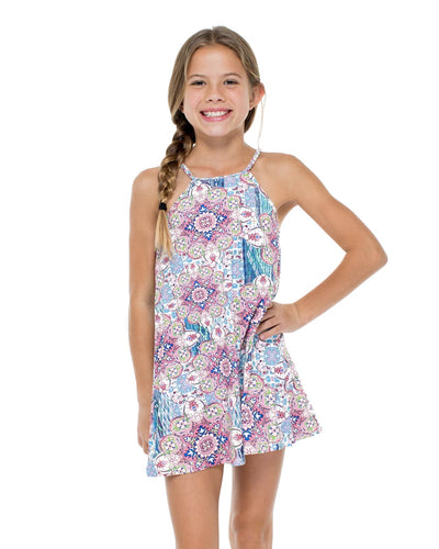 AZUCAR SHORT DRESS LULI FAMA T55025-111