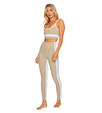 TAUPE&WHITE COLORBLOCK LEGGING BEACH RIOT BR03635S1-TAWH