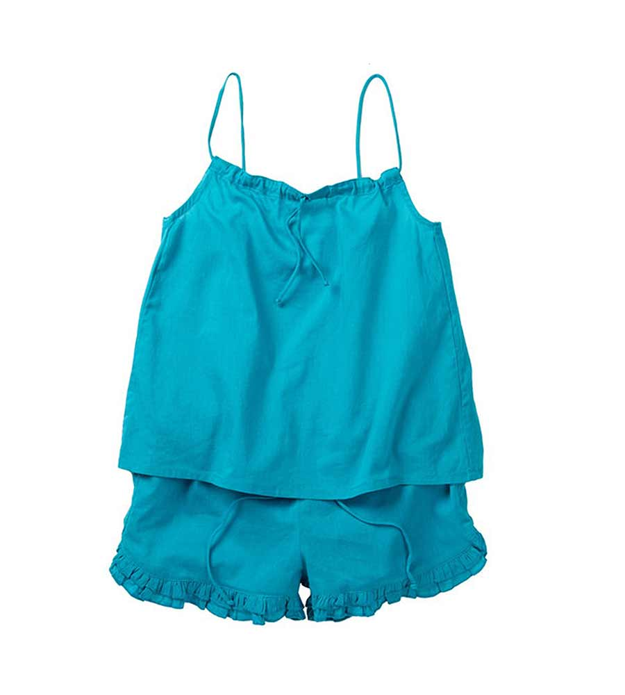 TEAL TANK AND SHORTS AZUL 6010-T