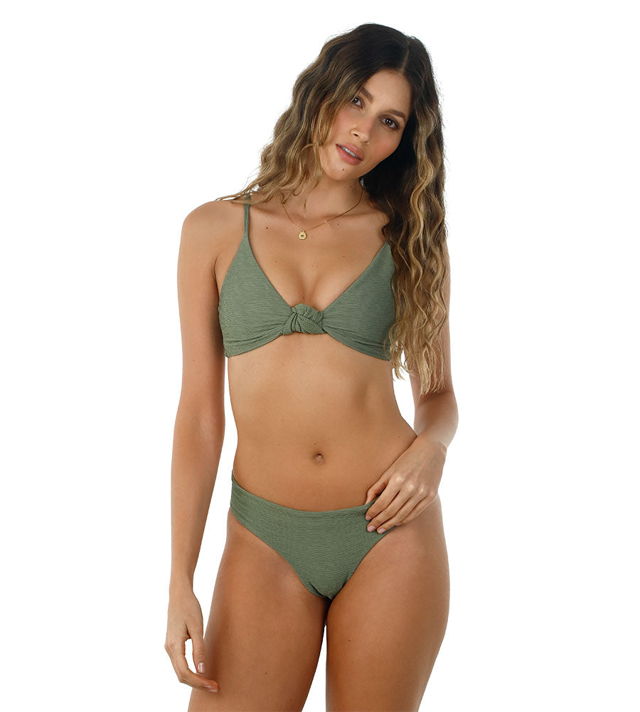 TEXTURED KALE GREEN PARAMOUNT BOTTOM BY MALAI