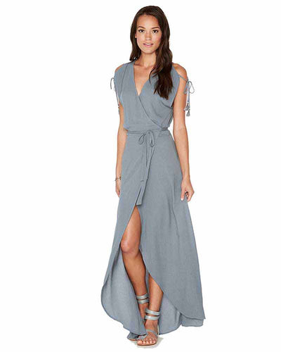 SLATED GLASS WRAPPER DRESS LSPACE THWDR18-SLG