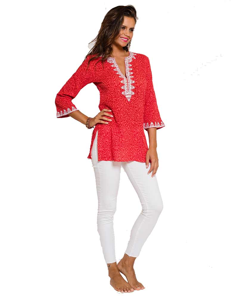 TIGER RED SAVANNAH TUNIC BY SULU