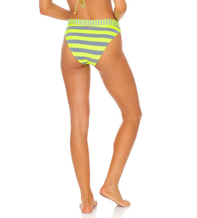 TIME TO FIESTA NEON YELLOW HIGH WAIST BANDED BOTTOM LULI FAMA L643N56-025
