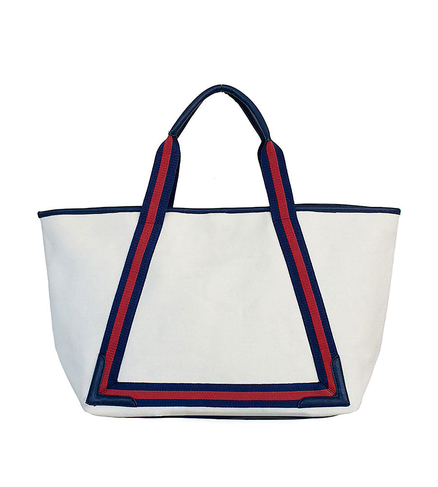 TOPSAIL RED BEACH TOTE BY HELEN JON