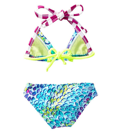 TURQUOISE IN THE MIX TRIANGLE BIKINI AZUL 3846-T