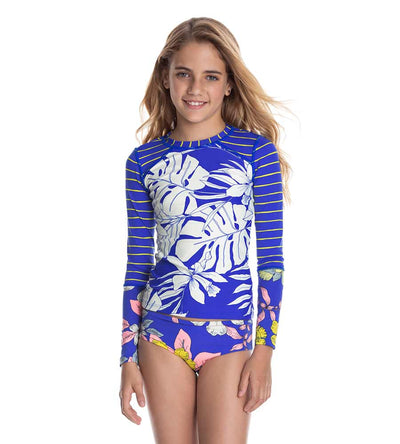 TURTLE BAY BUBBLES GIRLS RASHGUARD SET MAAJI 3105KRS08