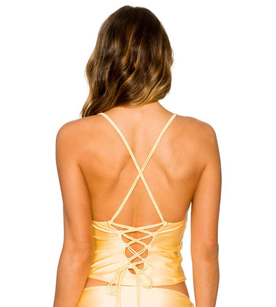 SUNBURST PALM CROSS TOP B.SWIM U52SNBU