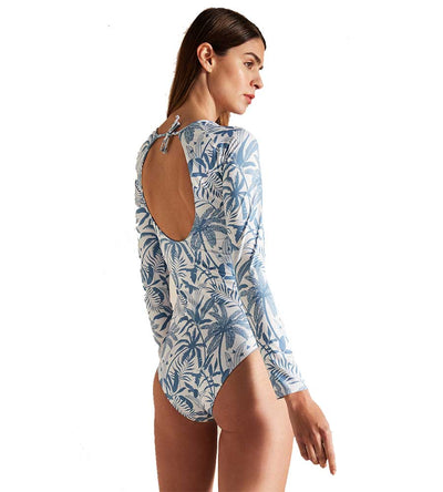 UNDER THE PALMS LONG SLEEVE ONE PIECE TOUCHE 0Q10012