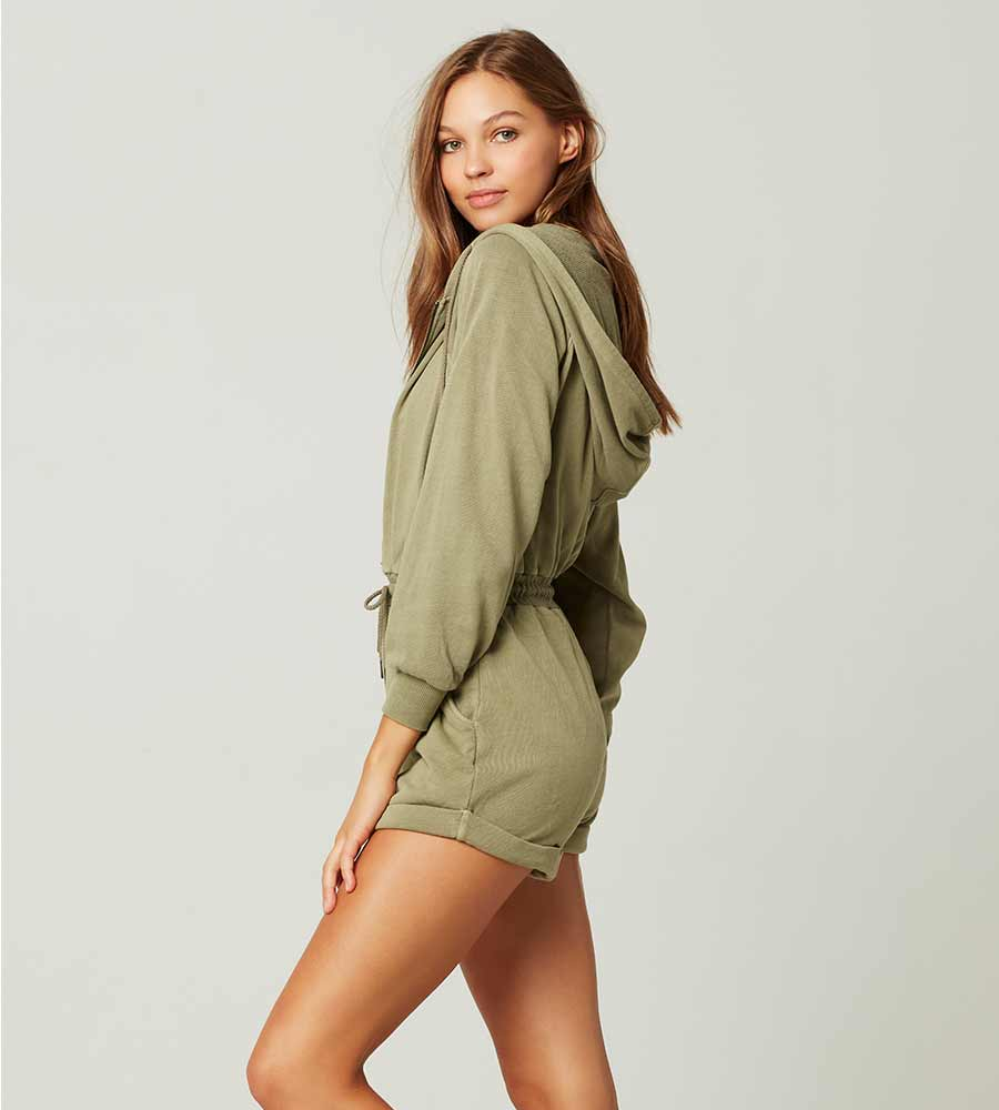 WASHED ARMY STAY COOL ROMPER BY LSPACE