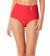 WAVERIDER RED ASYMETRICAL BELT HIGH WAIST BIKINI BOTTOM BY ANNE COLE
