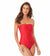 WAVERIDER RED BANDEAU ONE PIECE BY ANNE COLE