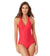 WAVERIDER RED HALTER BAND ONE PIECE BY ANNE COLE