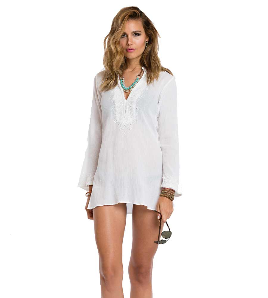 WEDDING WHITE MAYA TUNIC SULU MAYA11