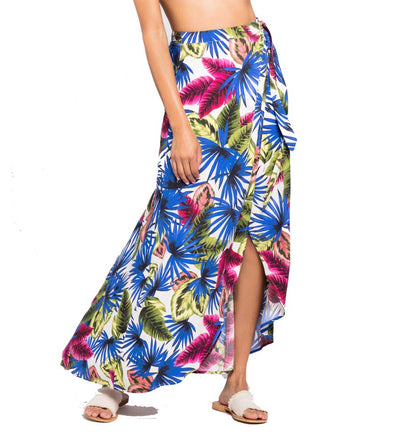 ELECTRIC PALM WHITNEY WRAP SKIRT LSPACE WHISK18-EPM