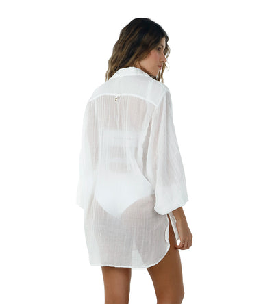 WHITE AKUMAL SHIRT BY MALAI