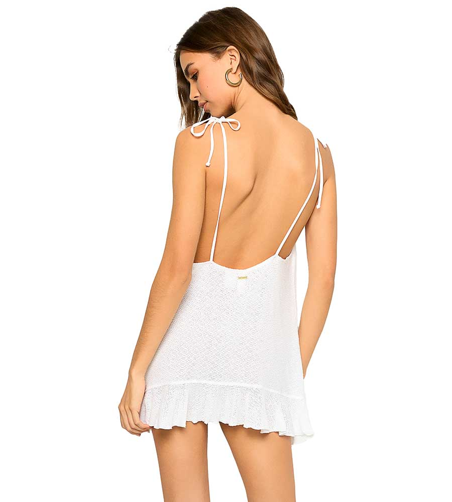 WHITE ANNIKA DRESS BY BEACH BUNNY