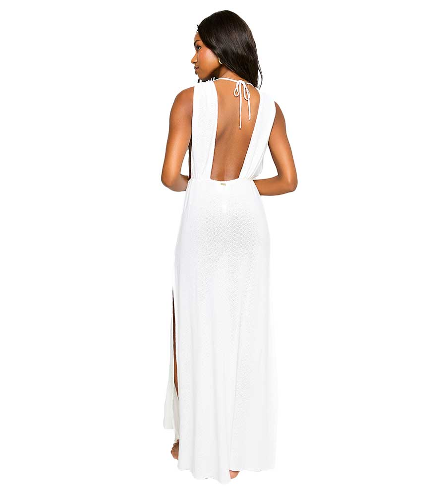 WHITE ANNIKA MAXI DRESS BY BEACH BUNNY