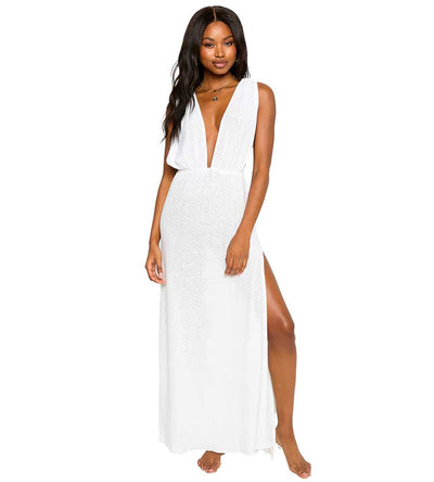 WHITE ANNIKA MAXI DRESS BEACH BUNNY B12122C4-WHTE-SU21