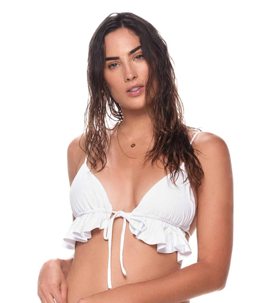 WHITE BAHIA TRIANGLE TOP BY MALAI
