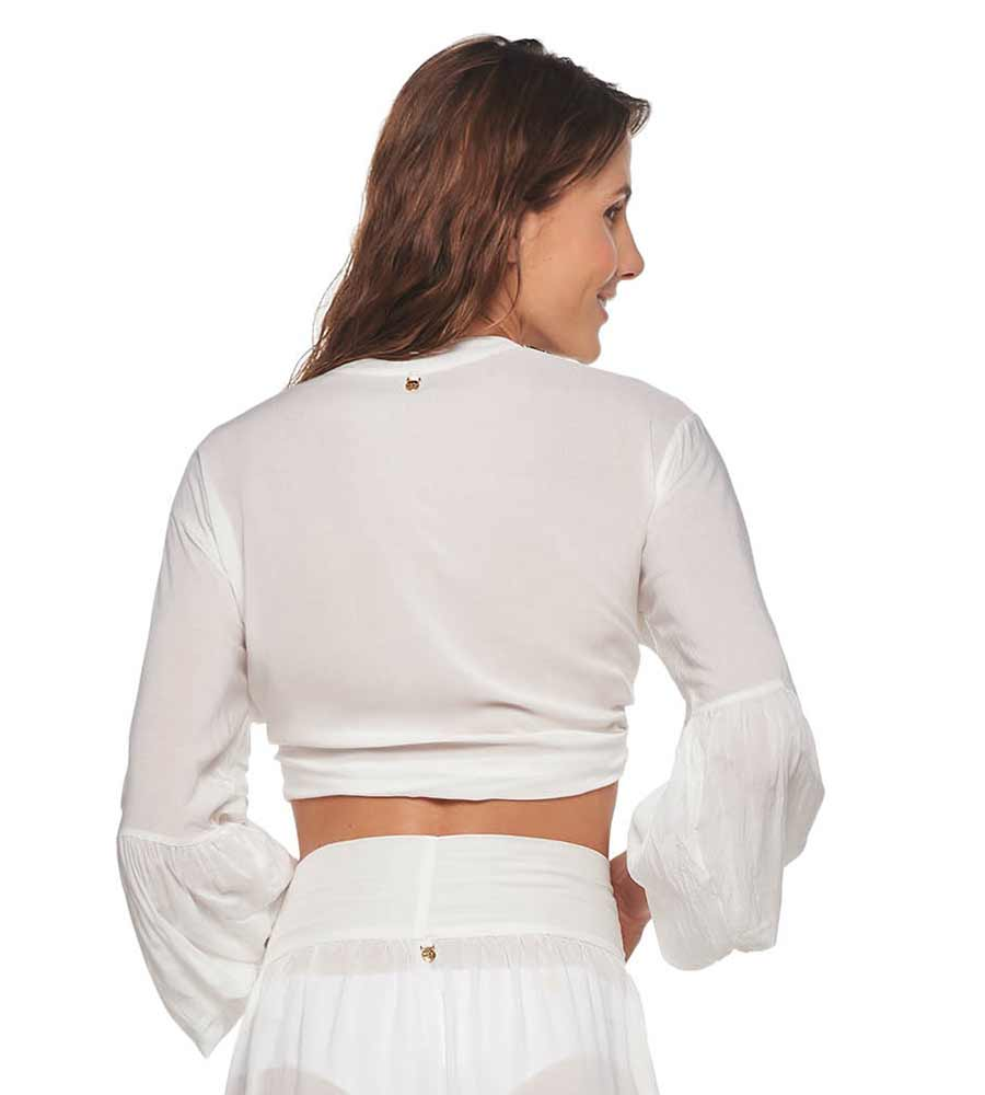 WHITE BELEN TOP BY MALAI