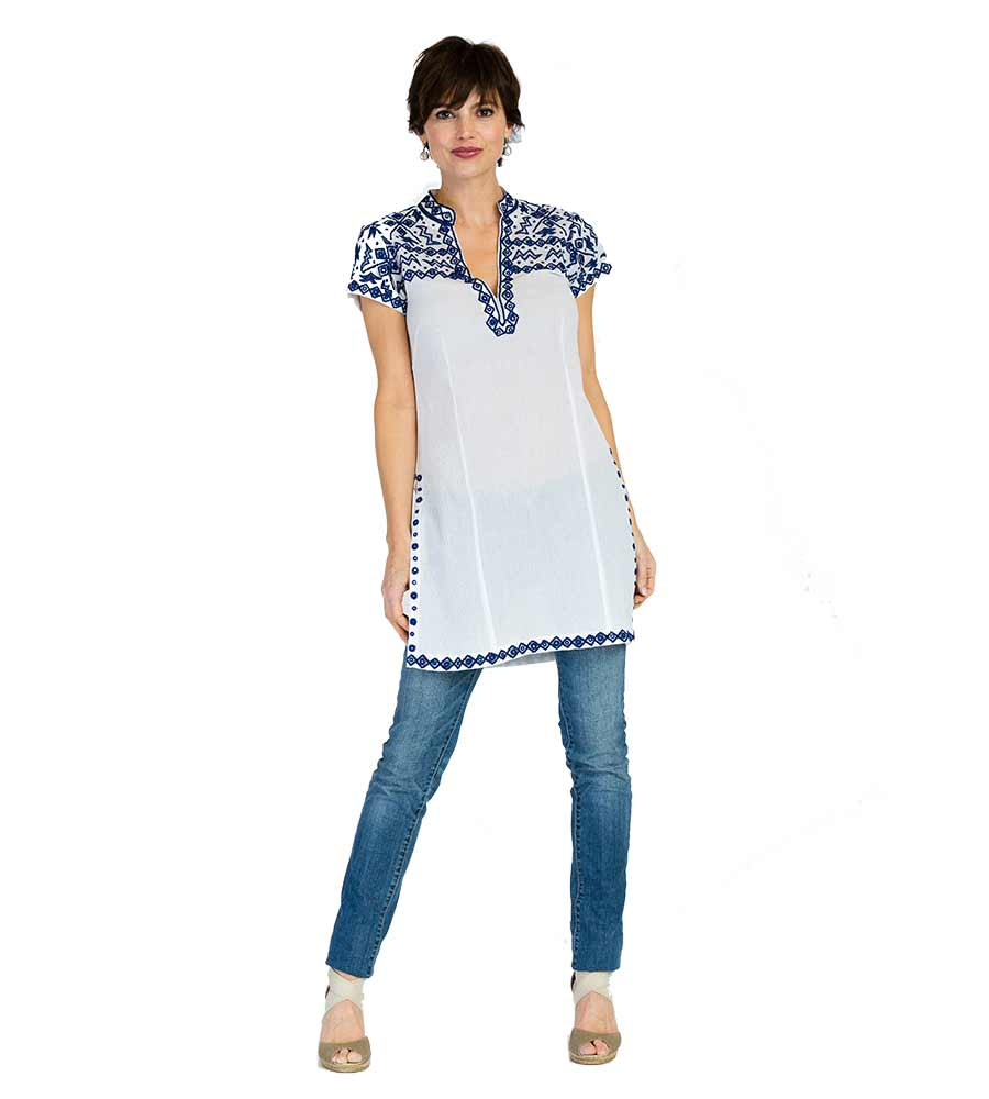 WHITE BRANDY LONG TUNIC BY SULU