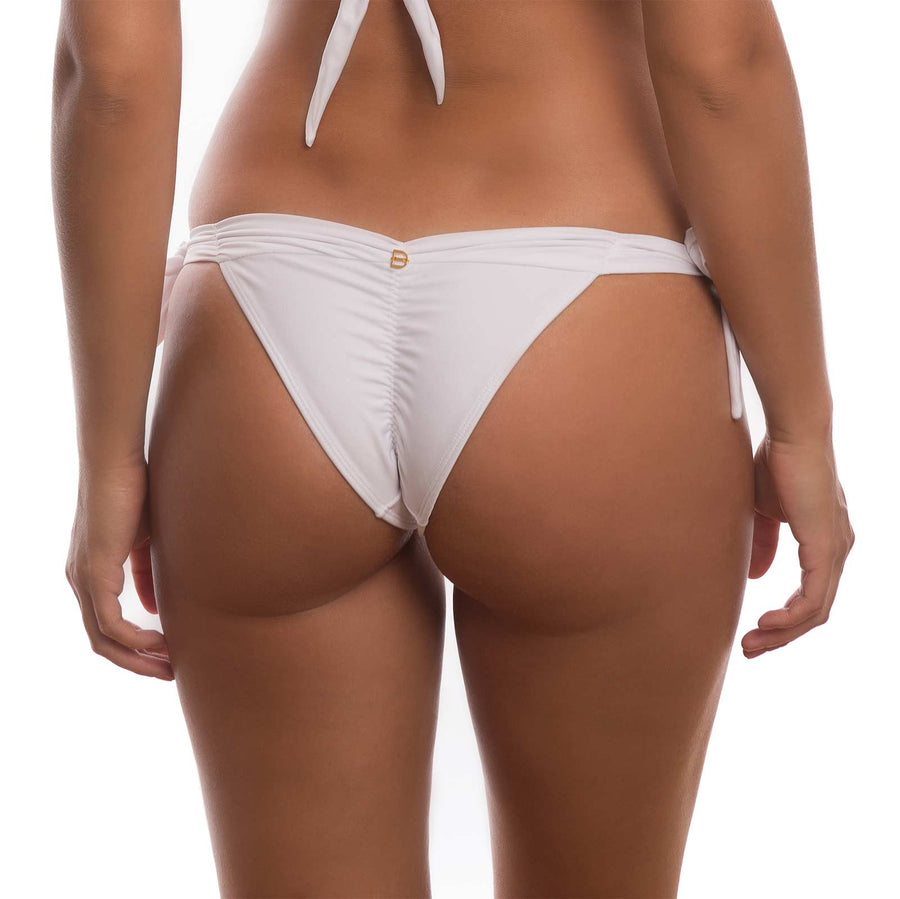 WHITE CRYSTALINE BIKINI BOTTOM BY DESPI