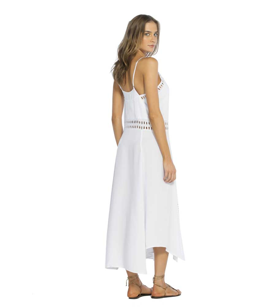 WHITE DEANA LONG DRESS BY VIX