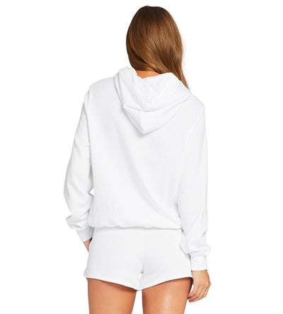 WHITE ECOSOFT EMERY FLEECE HOODIE VITAMIN A 110SWESW
