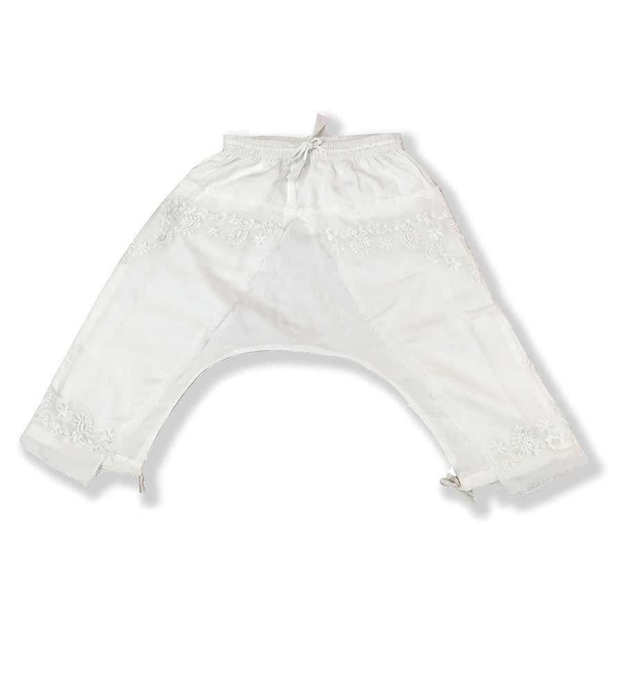 WHITE HAREM PANTS AZUL 4055-W