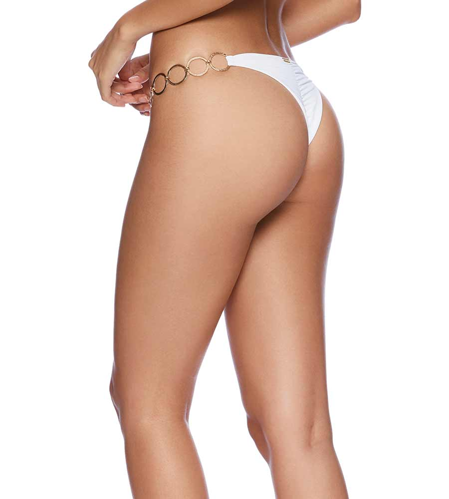 WHITE HAUTE HOLLYWOOD LEXI TANGO BOTTOM BY BEACH BUNNY