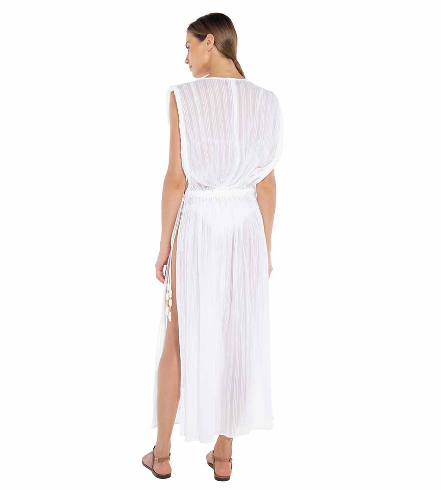 WHITE LISA CAFTAN BY VIX