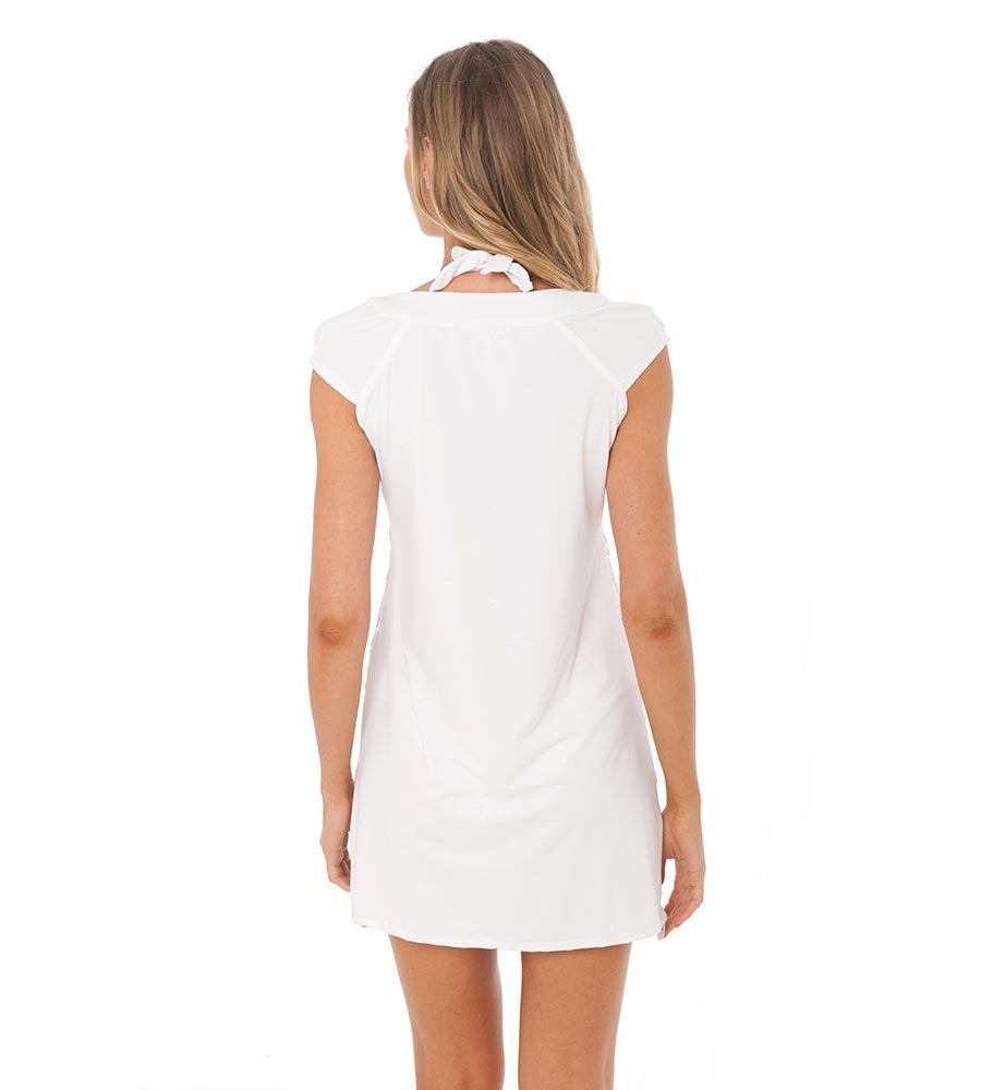 WHITE LISBON TUNIC BY DESPI