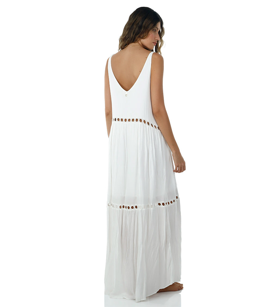 WHITE LOVEY DOVEY MAXI DRESS BY MALAI