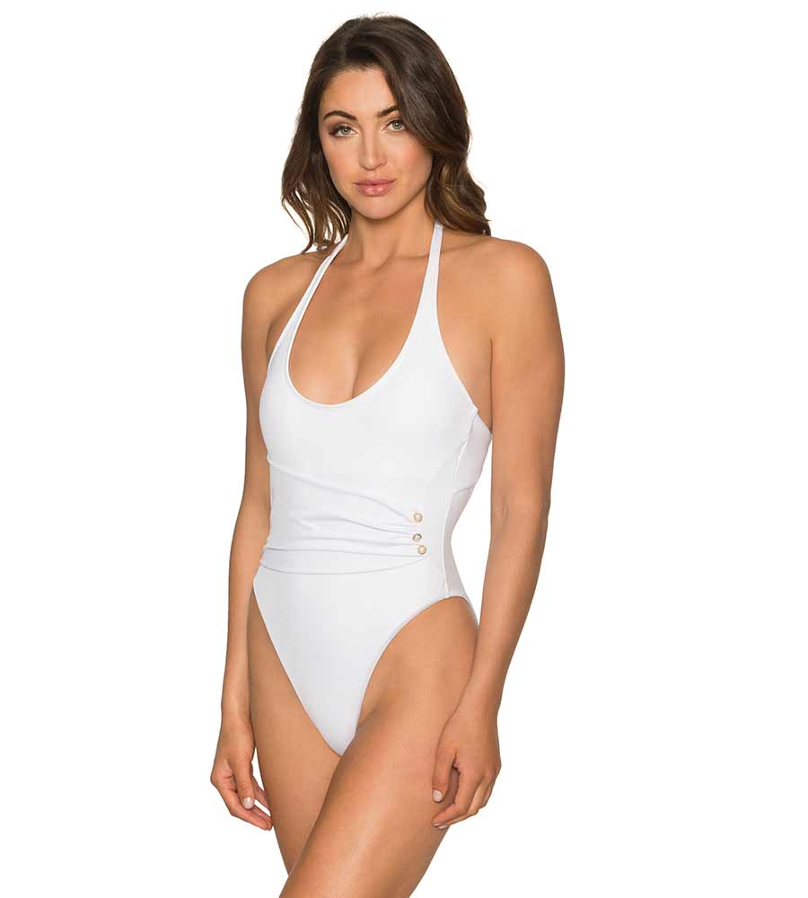 97a11bb9e23 WHITE OPAL CALYPSO ONE PIECE BY AERIN ROSE - Kayokoko Swimwear USA