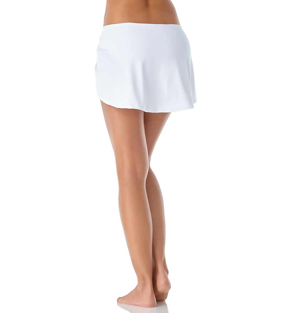 WHITE SARONG SWIM SKIRT ANNE COLE 20MB40701-WHT