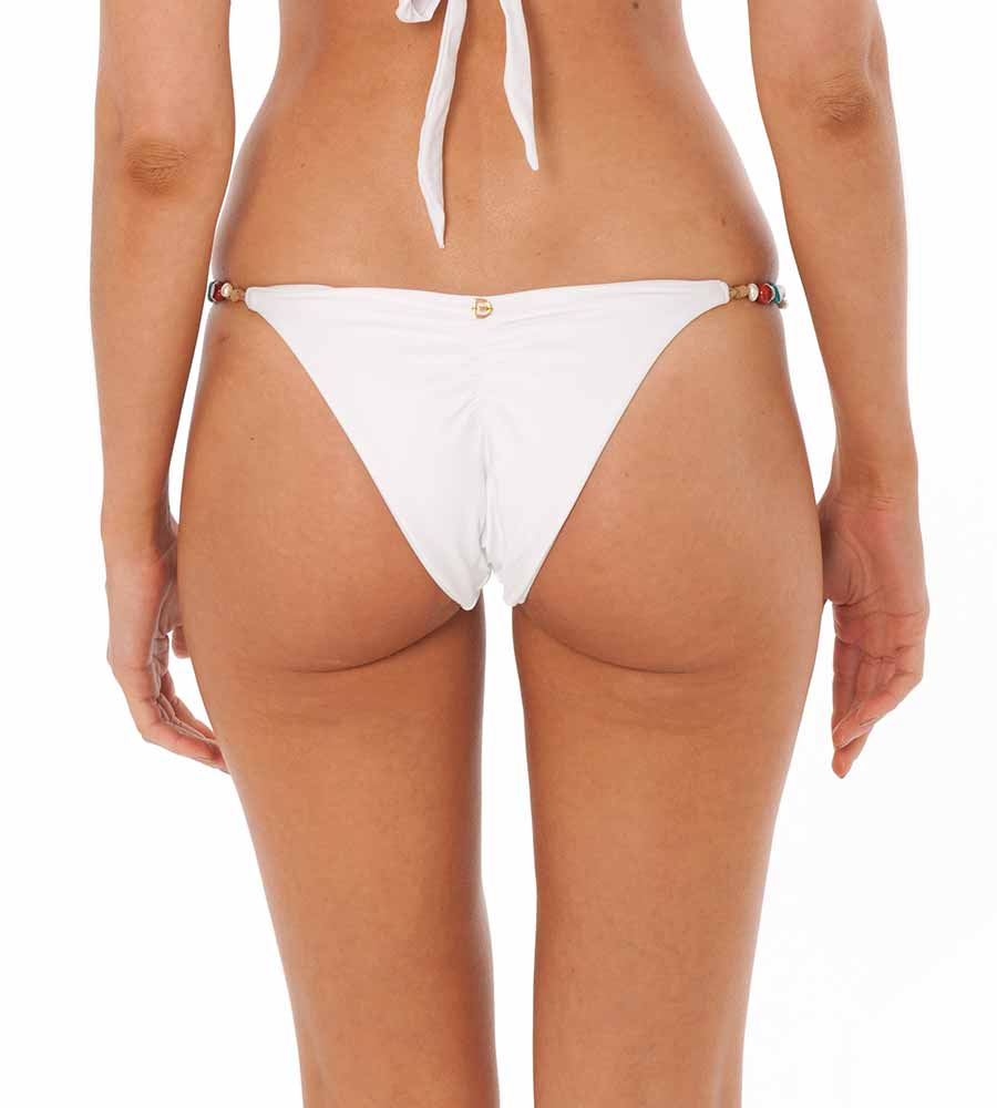 WHITE SEAMAID BIKINI BOTTOM BY DESPI