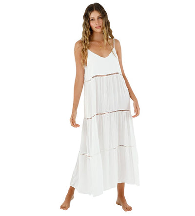 WHITE SINK MAXI DRESS MALAI C61002