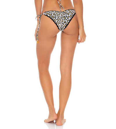 WILD SIDE LACE TRIM REVERSIBLE RUCHED BRAZILIAN TIE SIDE BOTTOM LULI FAMA L64202P-111