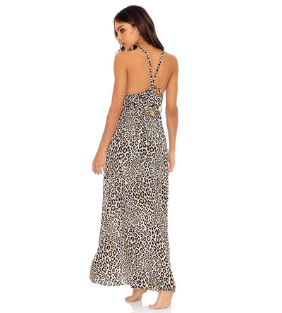 WILD SIDE V BACK LONG DRESS LULI FAMA L642N89-111