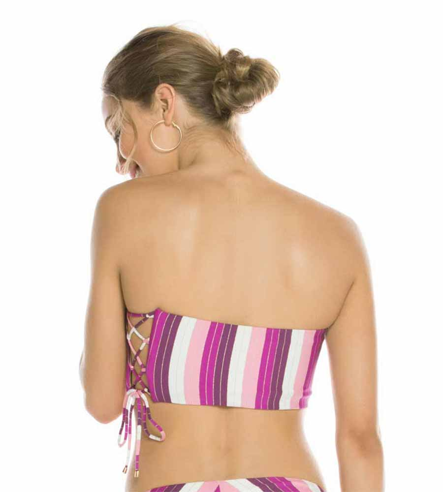 WISTERIA STRIPE GEORGINA TOP BY AGUA BENDITA