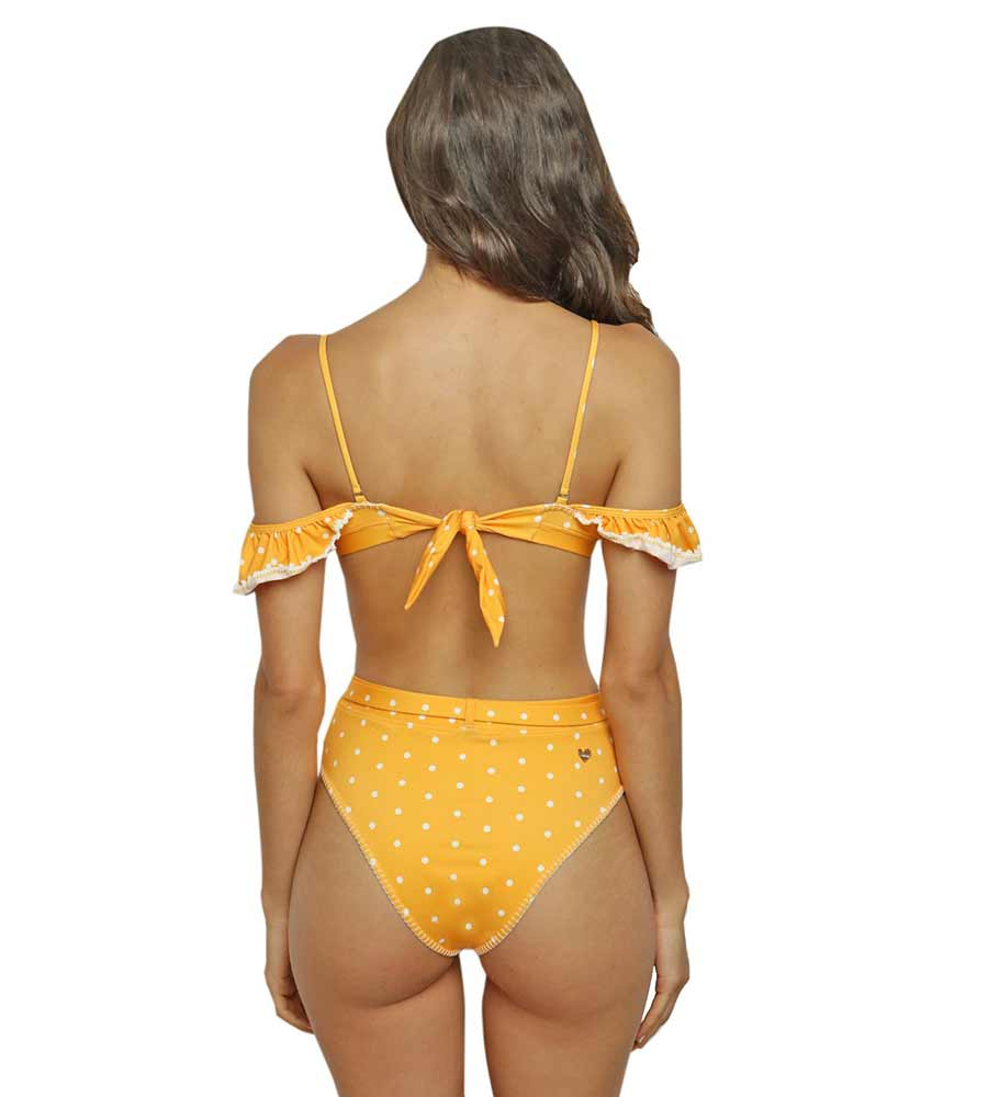 YELLOW DORIS BIKINI TOP BY CAPITTANA